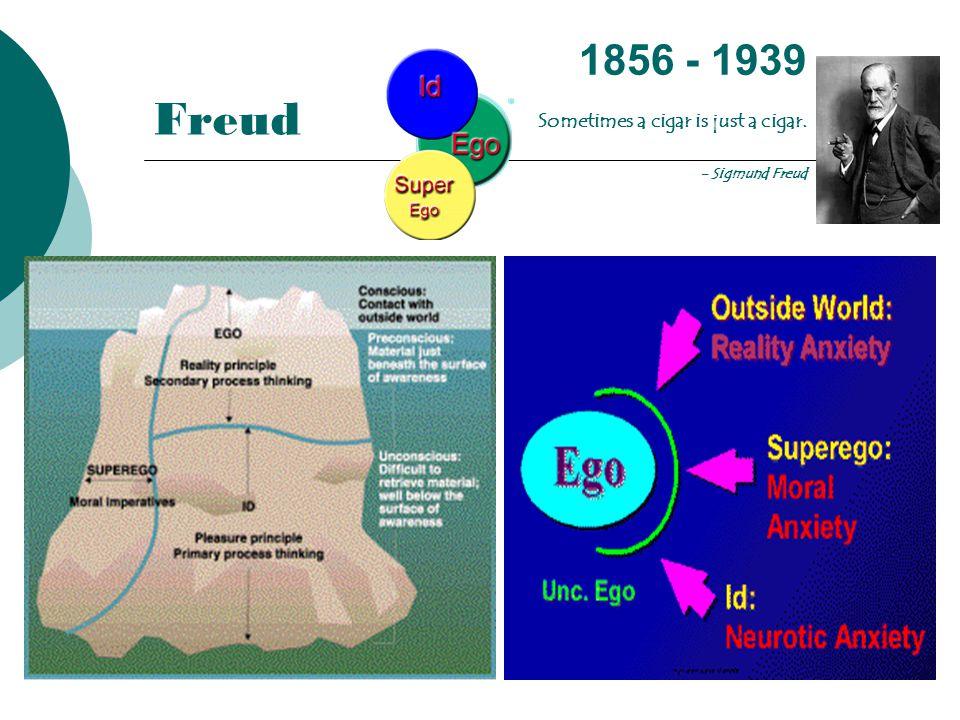 Freud 1856 - 1939 Sometimes a cigar is just a cigar. - Sigmund Freud