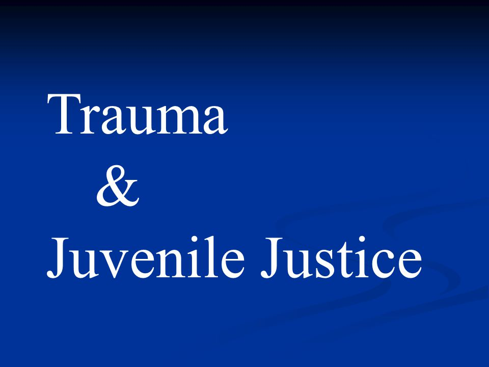 The Under-recognized Trauma: Witnessing of Violence
