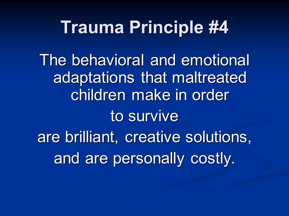 Elements of Trauma-Informed Treatment 1.Trauma-informed assessment 2.