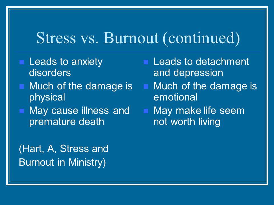 Stress vs.