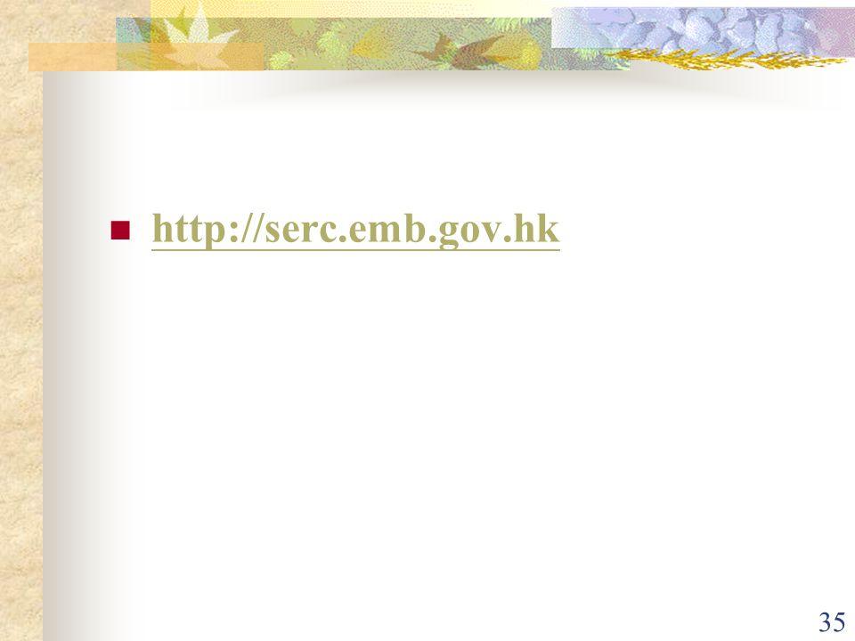 35 http://serc.emb.gov.hk