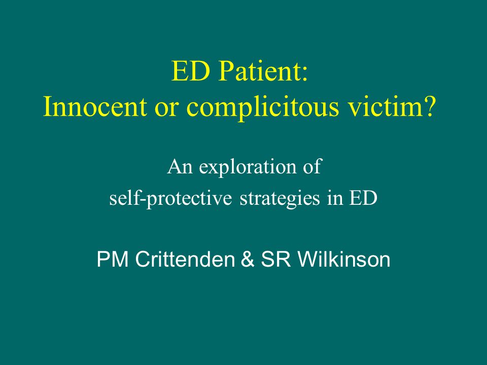 4th April 2005Crittenden & Wilkinson2 www.ssbu.no Four Parts of Presentation 1.Overview of attachment (DMM) 2.Discussion of appearance & reality in ED 3.Three ED examples 4.Closing discussion
