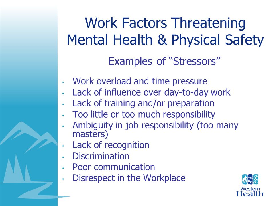 Consequences of Excessive Stress Rushed, stressed and helpless Abused Nervous Depressed Angry and upset Lack of concentration Easily distracted Eat poorly Drink excessively Use too many medications No time for exercise Sleep poorly Prone to infections More likely to get injured Cardiovascular risk Mental ConsequencesPhysical Consequences