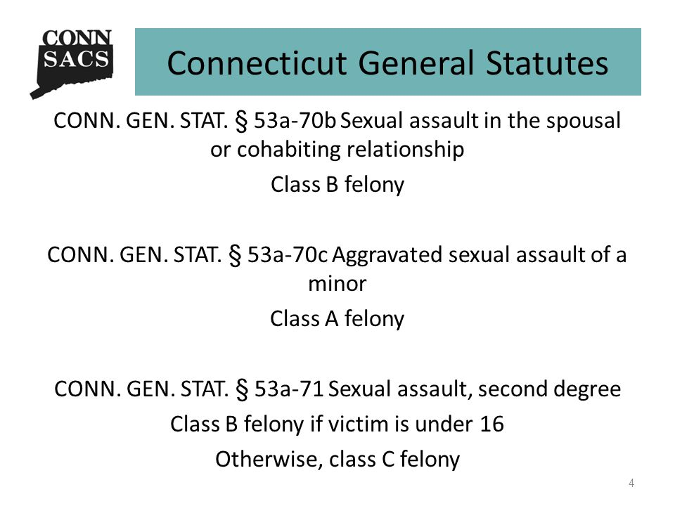 Connecticut General Statutes CONN. GEN. STAT.