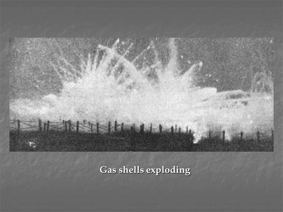 Gas shells exploding