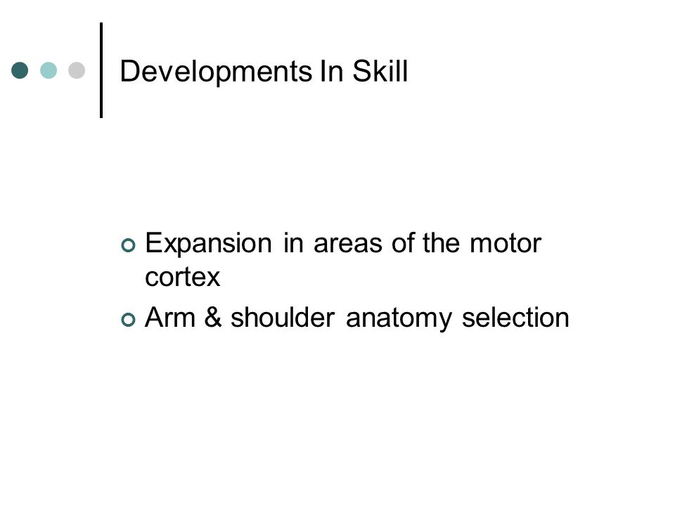 Developments In Skill Expansion in areas of the motor cortex Arm & shoulder anatomy selection