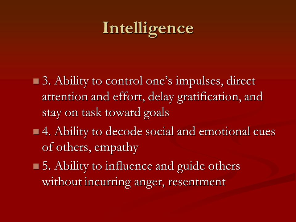 Intelligence 3.
