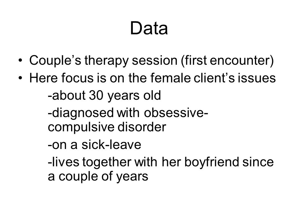 DSA: data for Kerttu's central theme …our relationship is stuck because of my illness… …it's a two-sided thing because I guess I should feel better so that my illness would not be hindering our relationship but … …the illness means that I'm incapable of normal – live the way or do things I would like to so it (the illness) makes my life rather distressed (3) it's better not to think about it, it's easier to avoid thinking too much about what my days are like because thinking about it ends up in a feeling that there's no sense in the life of mine…