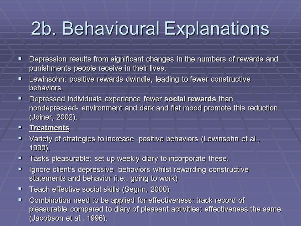 2c. Cognitive Explanations Two explanations Learned Helplessnes s Negative Thinking