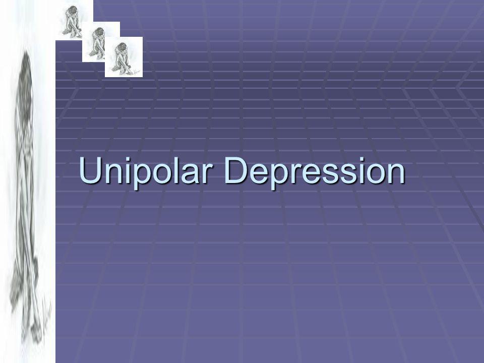 Major depressive episode 1.