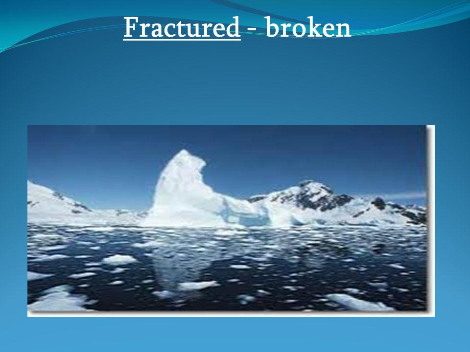 Fractured - broken