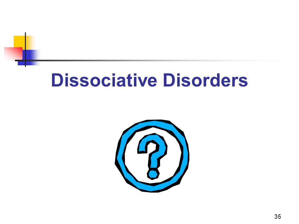 35 Dissociative Disorders