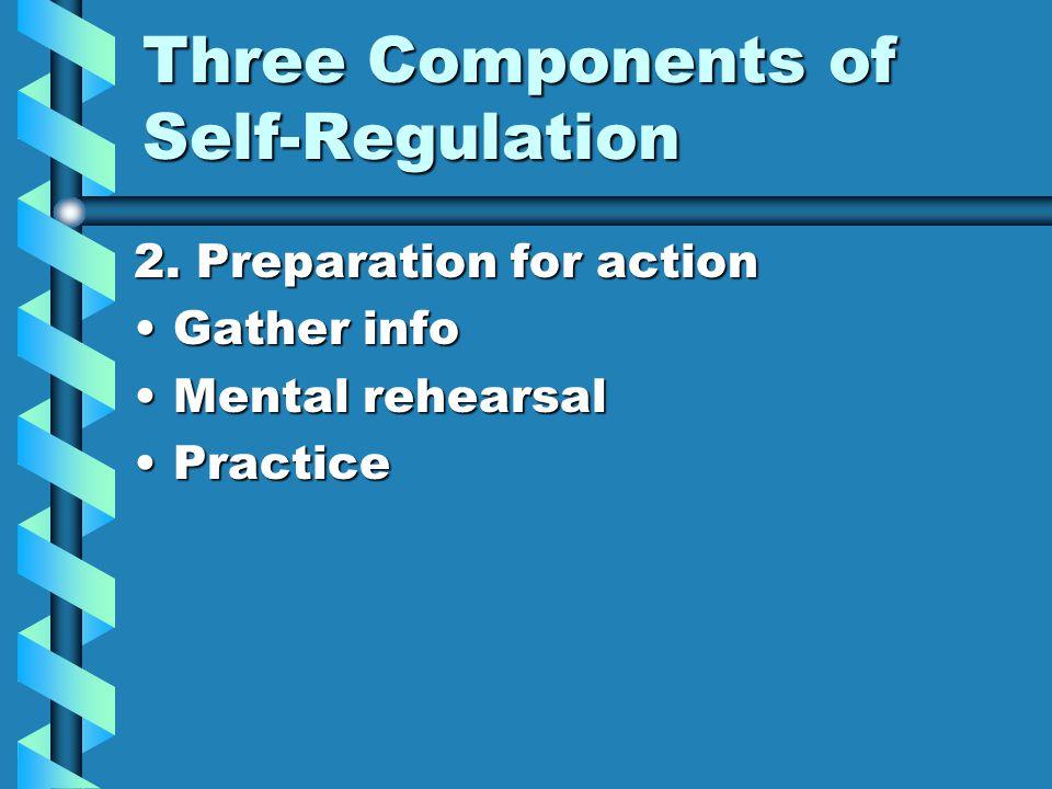 Three Components of Self-Regulation 2.