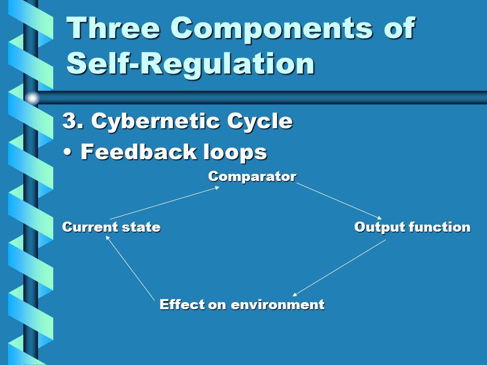 Three Components of Self-Regulation 3.