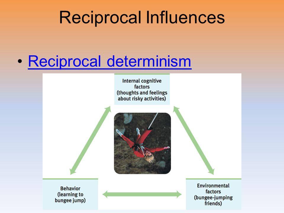 Reciprocal Influences Reciprocal determinism