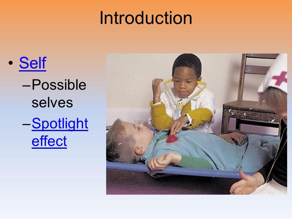 Introduction Self –Possible selves –Spotlight effectSpotlight effect