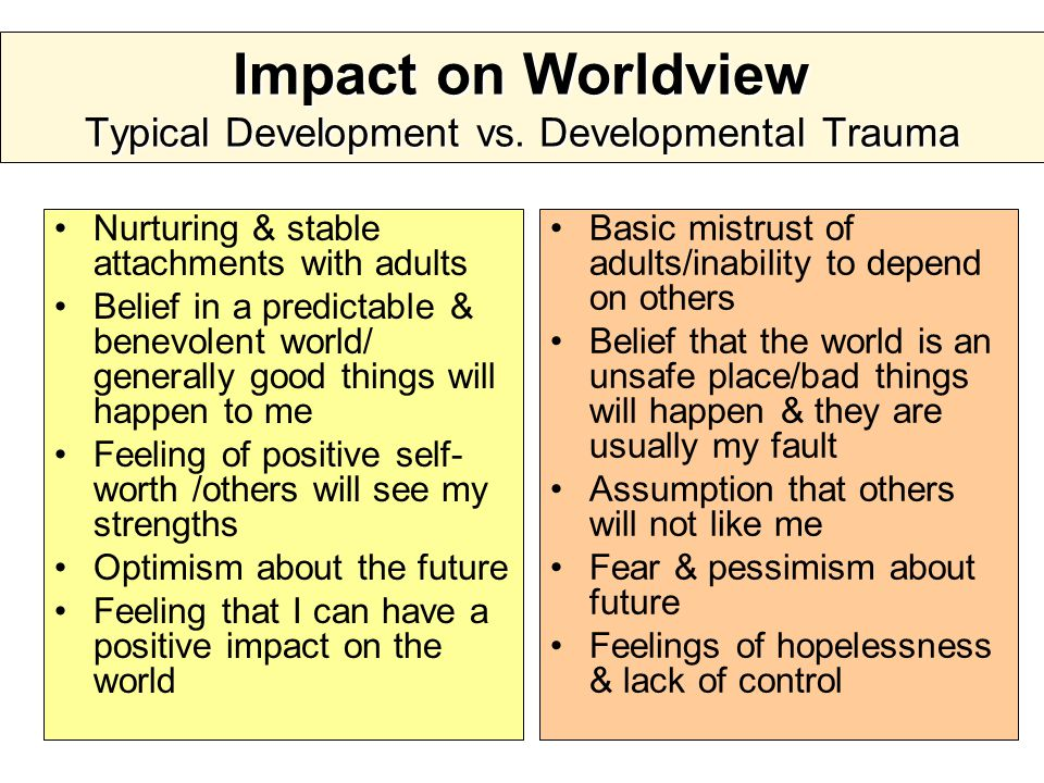 Impact on Worldview Typical Development vs.