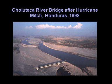 Choluteca River Bridge after Hurricane Mitch, Honduras, 1998
