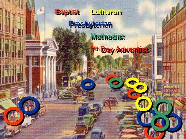 Baptist Presbyterian Lutheran Methodist 7 th Day Adventist Methodist 7 th Day Adventist