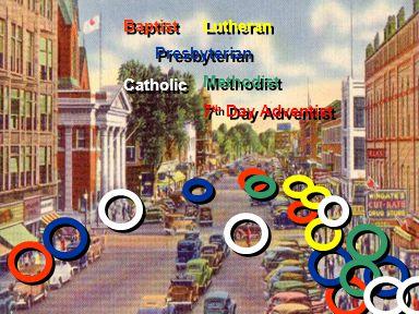 Baptist Presbyterian Lutheran Catholic Methodist 7 th Day Adventist Methodist 7 th Day Adventist