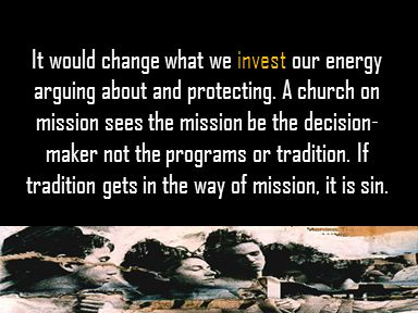It would change what we invest our energy arguing about and protecting.