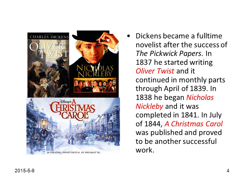 A few works were published between A Christmas Carol and David Copperfield.