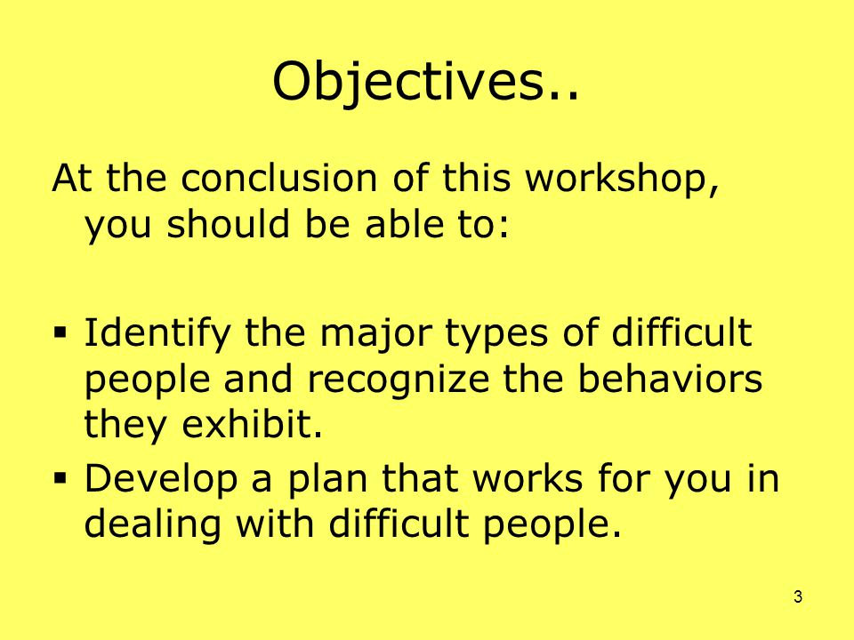 3 Objectives..