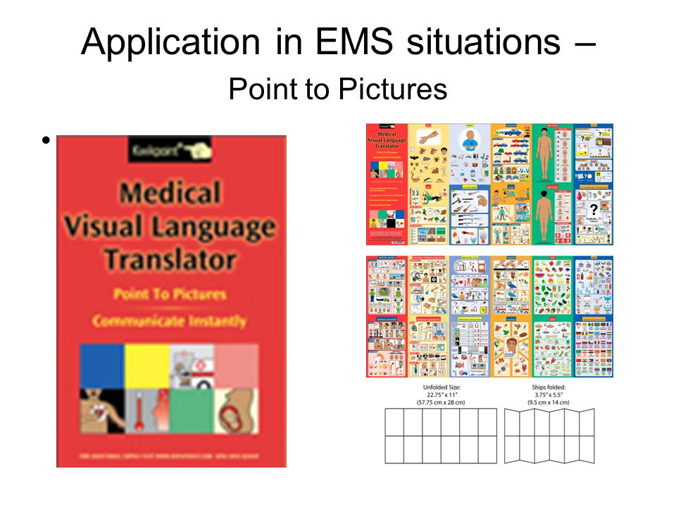 Application in EMS situations – Point to Pictures.