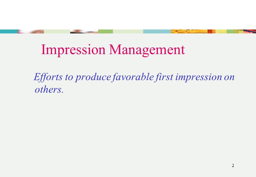 1 Impression Management