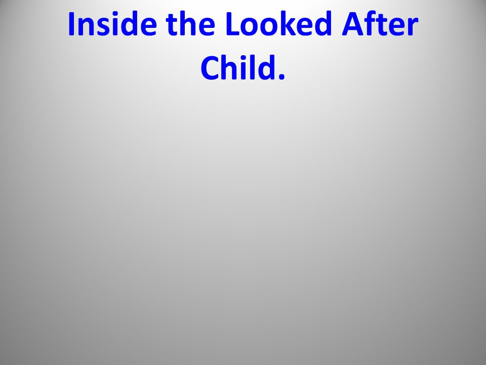 Inside the Looked After Child.