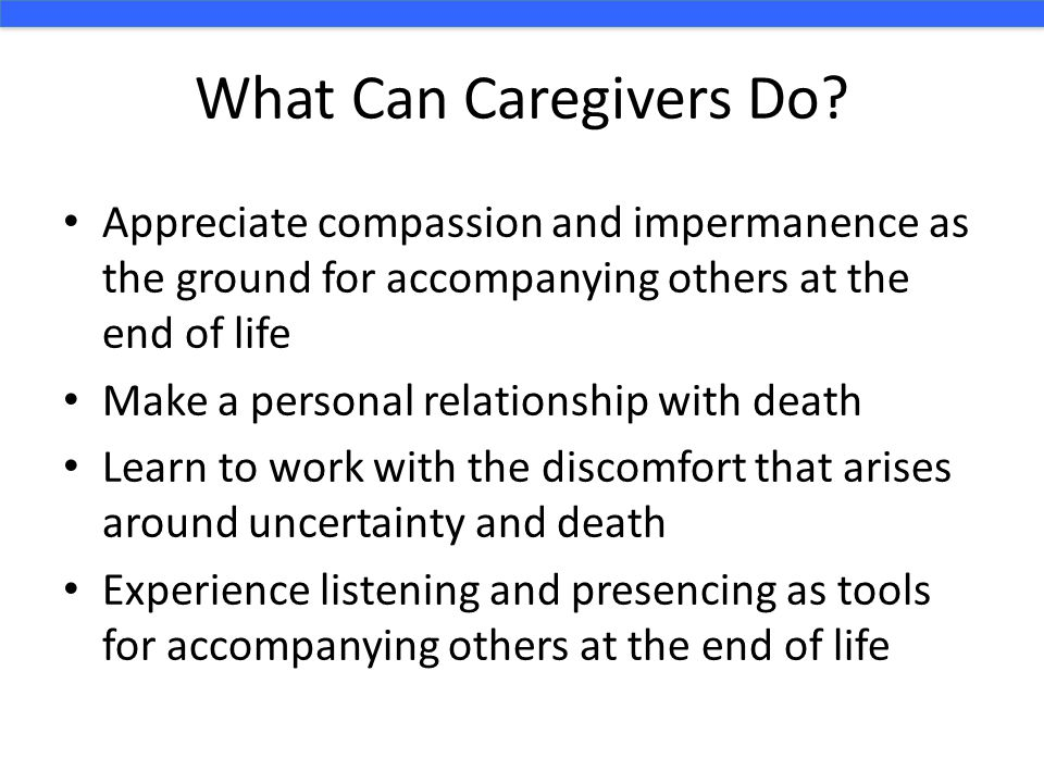 What Can Caregivers Do.