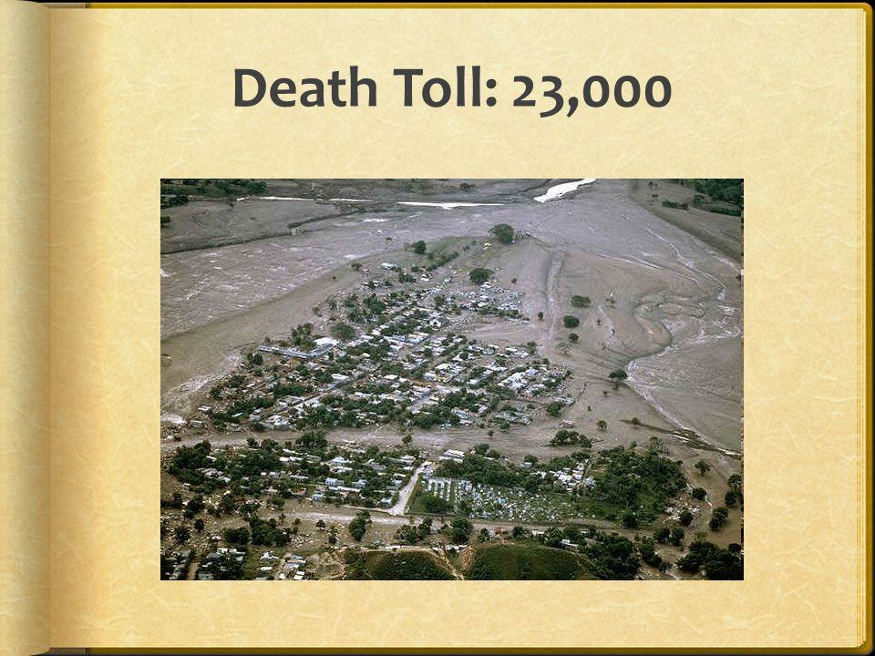 Death Toll: 23,000