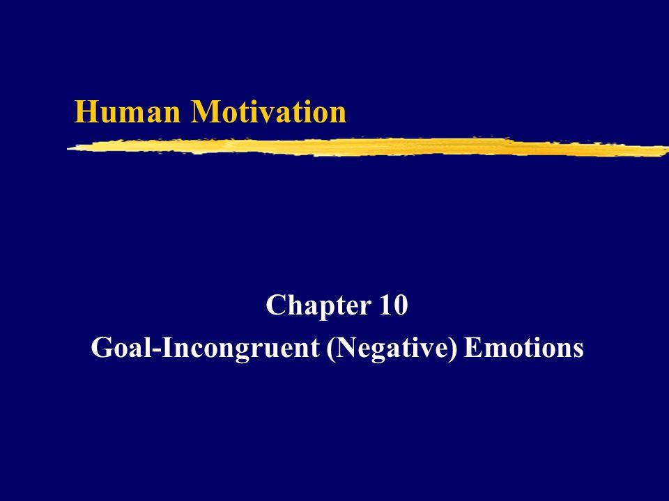 Human Motivation Chapter 10 Goal-Incongruent (Negative) Emotions
