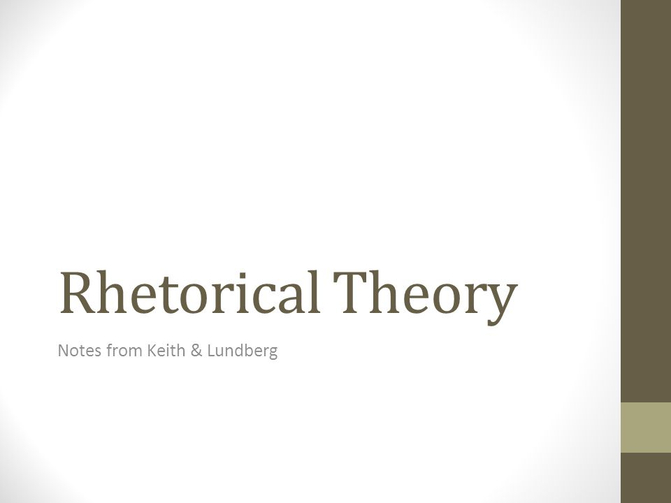 What is rhetoric.