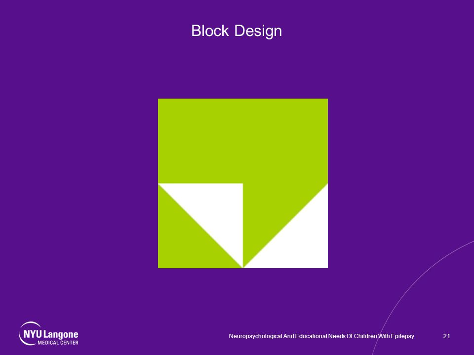 Block Design 21Neuropsychological And Educational Needs Of Children With Epilepsy