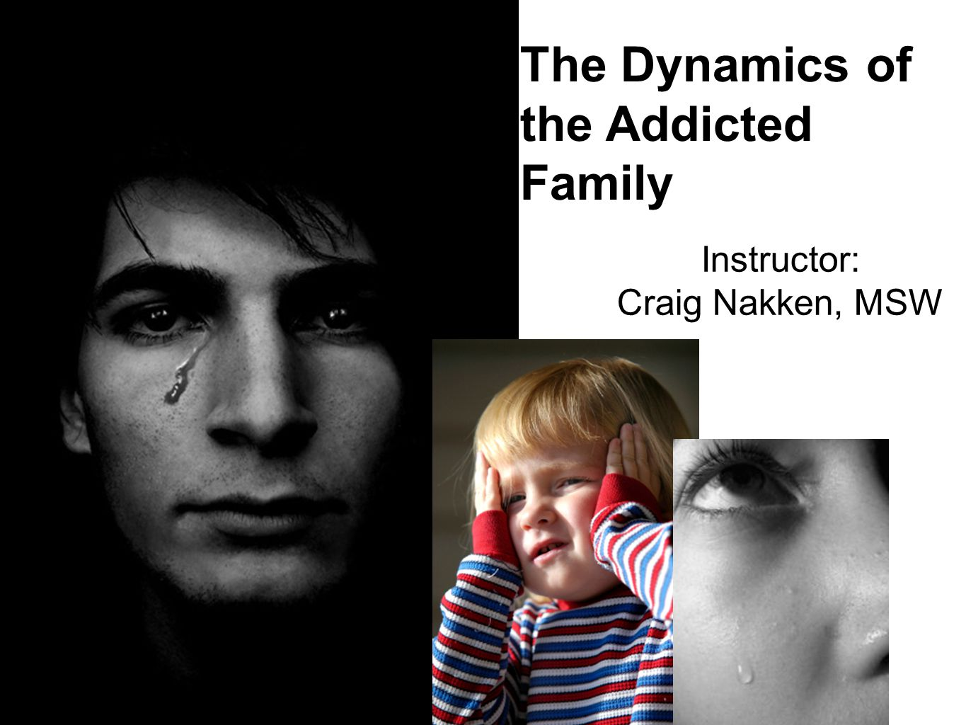 The Dynamics of the Addicted Family Instructor: Craig Nakken, MSW