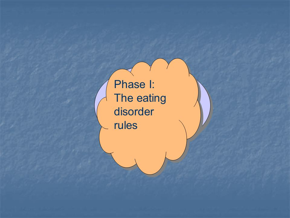 Phase I: The eating disorder rules Phase I: The eating disorder rules