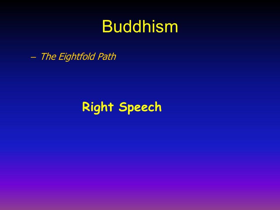 Buddhism – The Eightfold Path Right Speech