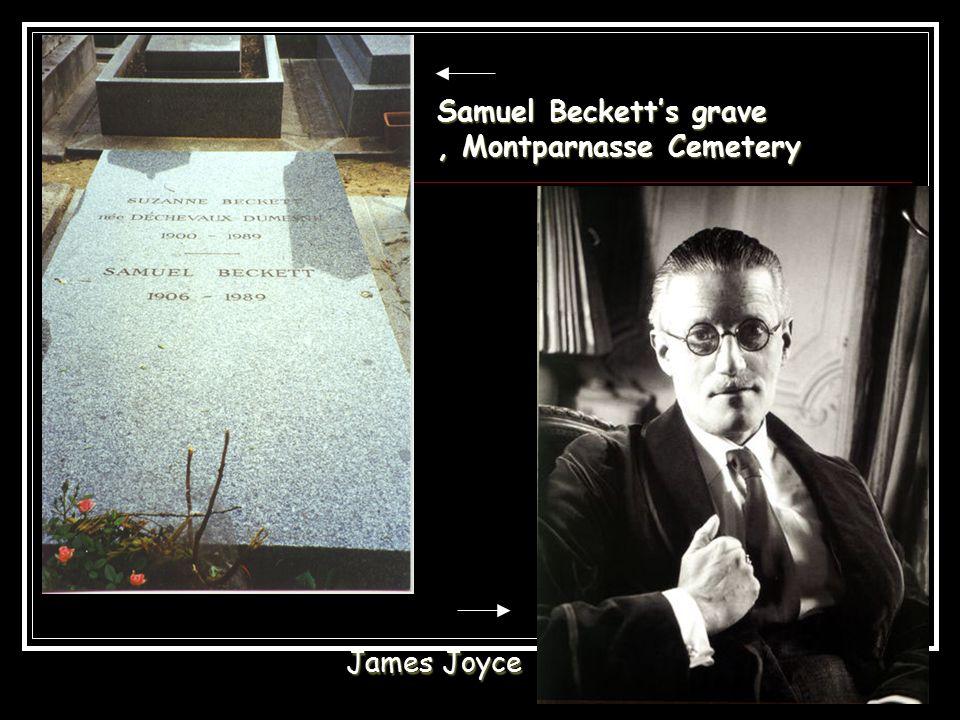 Samuel Beckett's grave, Montparnasse Cemetery James Joyce