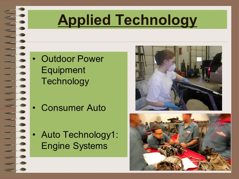 Applied Technology Outdoor Power Equipment Technology Consumer Auto Auto Technology1: Engine Systems