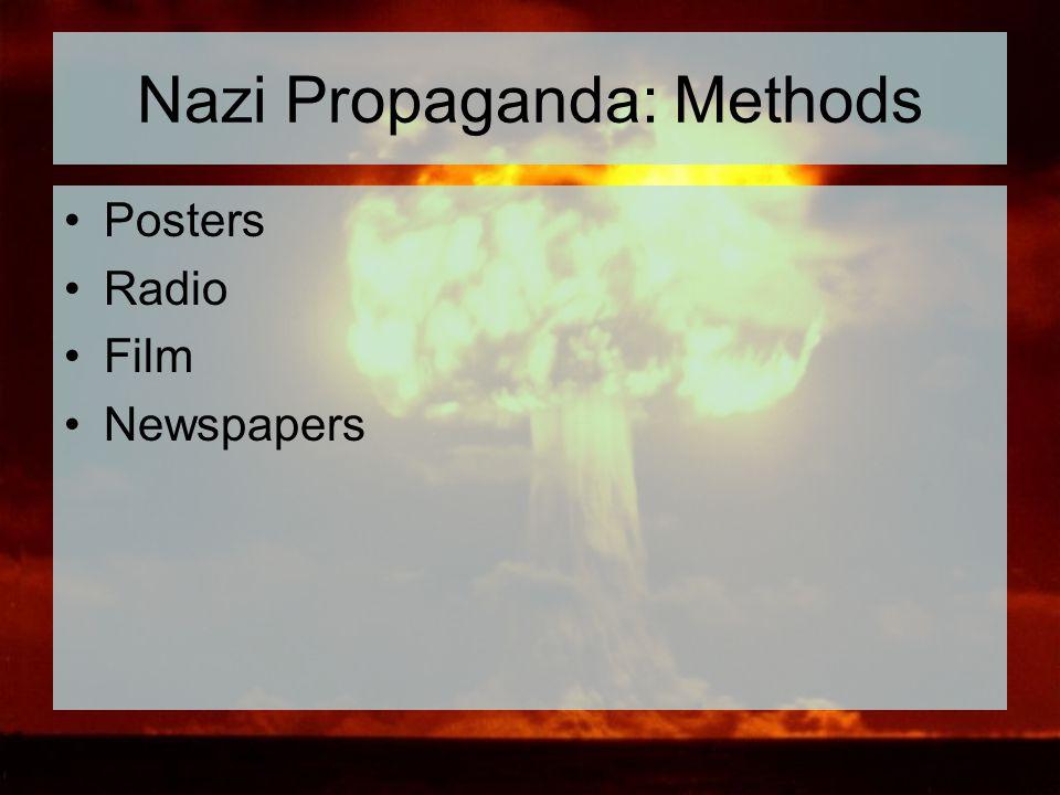 Nazi Propaganda: Methods Posters Radio Film Newspapers