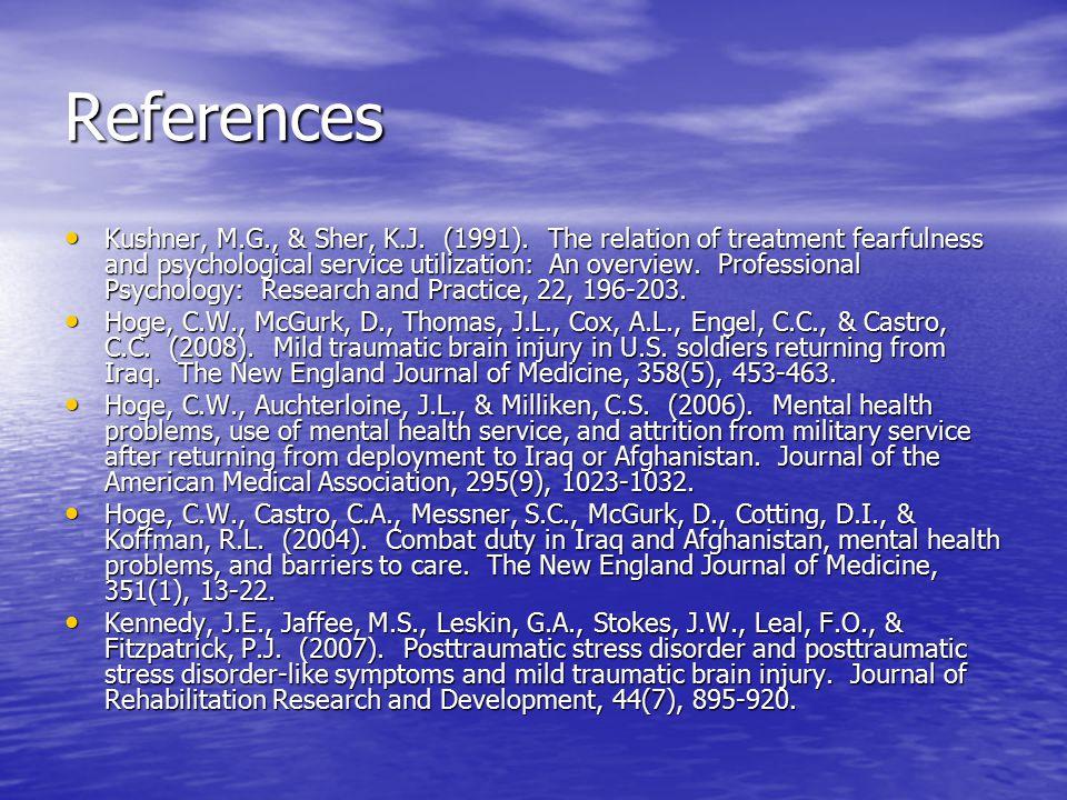 References Kushner, M.G., & Sher, K.J. (1991).