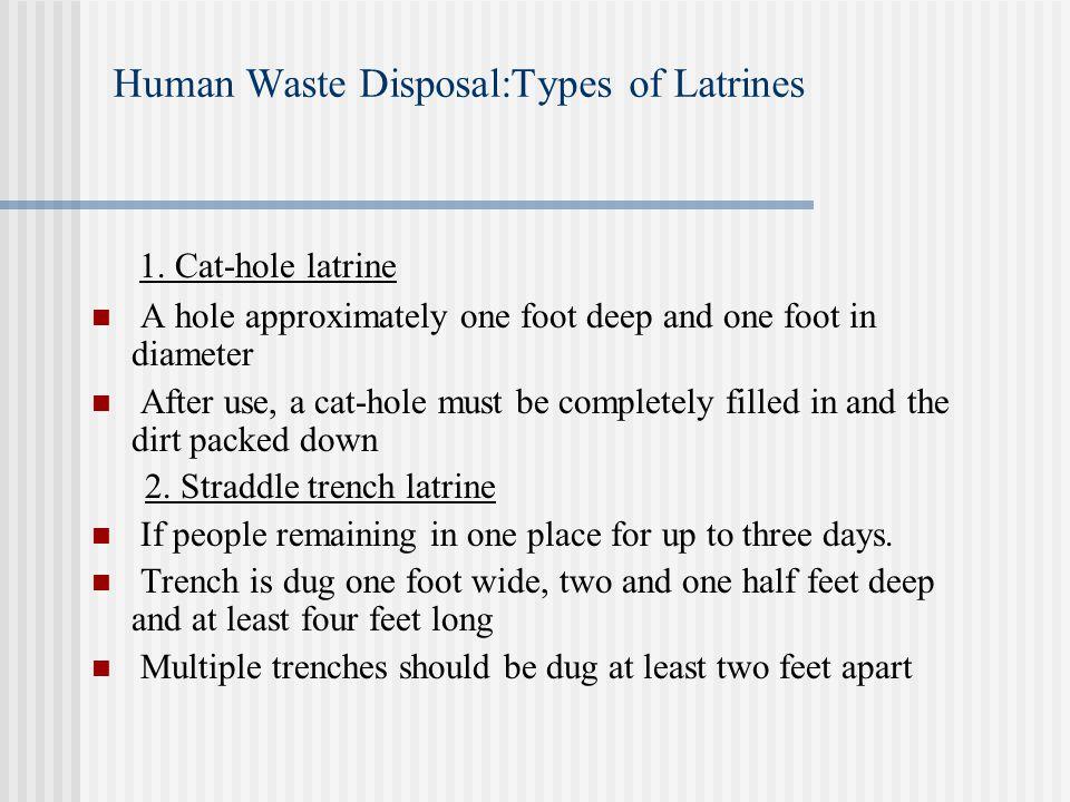 Human Waste Disposal:Types of Latrines 1.
