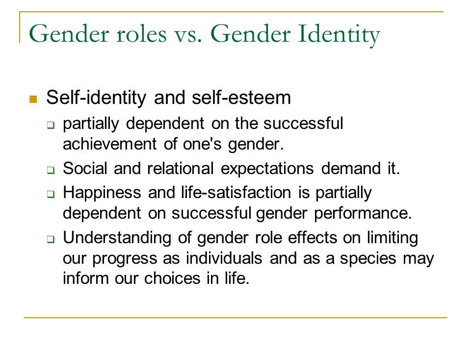 Gender roles vs.
