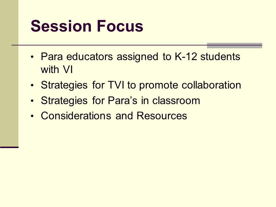 Collaborating with Para Educators in the General Education Classroom Presented by: Karen Aron, M.A.