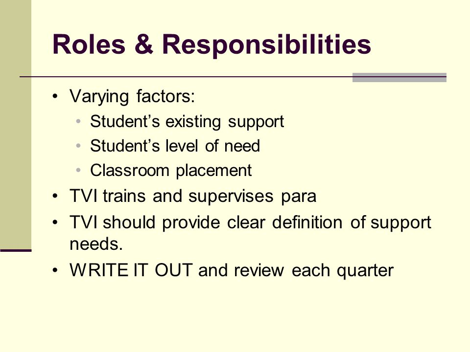 Para Educator Definition Support staff who works under supervision of a teacher or other professionals for the purpose of instructional support.
