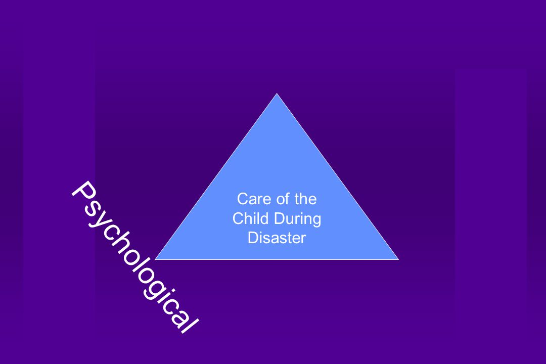 Care of the Child During Disaster Psychological