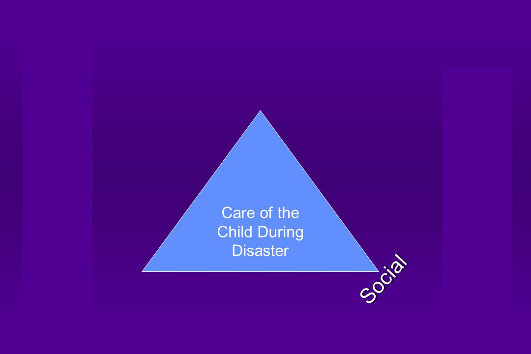 Care of the Child During Disaster Social