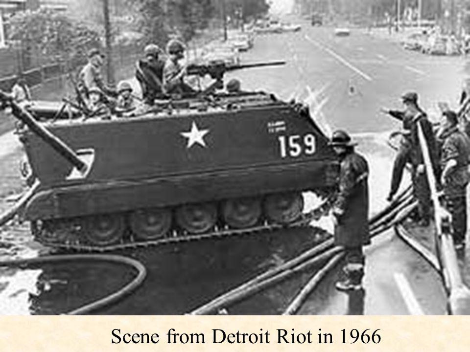 Scene from Detroit Riot in 1966