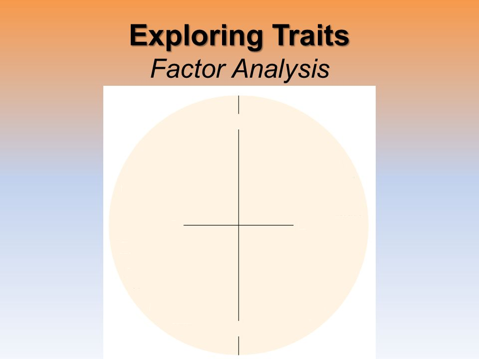 Exploring Traits Exploring Traits Factor Analysis
